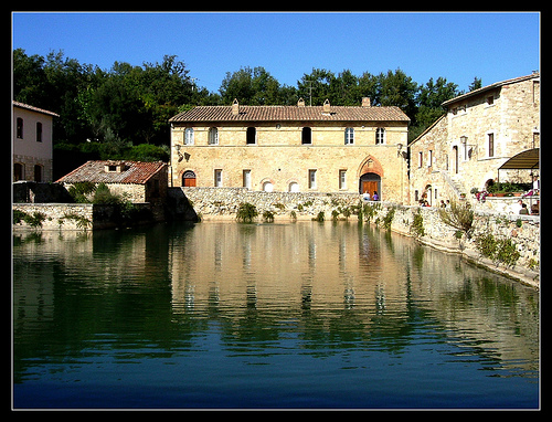 District of val d 39 orcia tourism best of district of val d - Il loggiato bagno vignoni ...