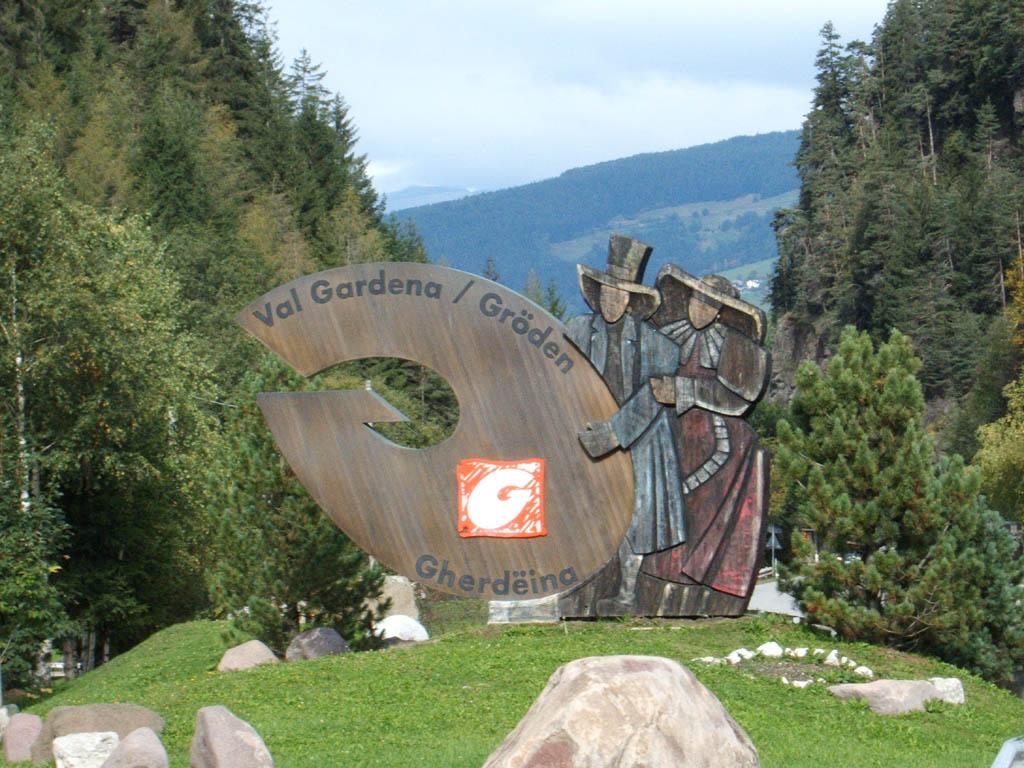 Cartello di benvenuto - Selva di Val Gardena - Visit Italy