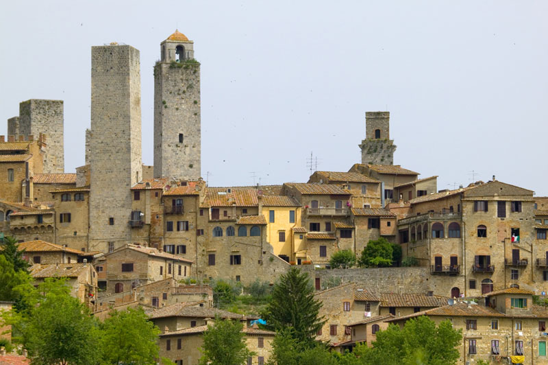 Die Türme gesehen - San Gimignano - Visit Italy