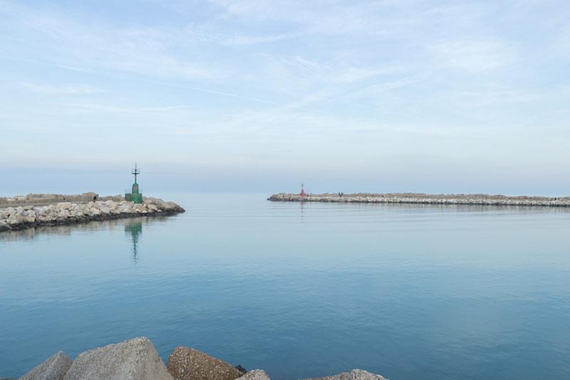 Vista del mare di Giulianova