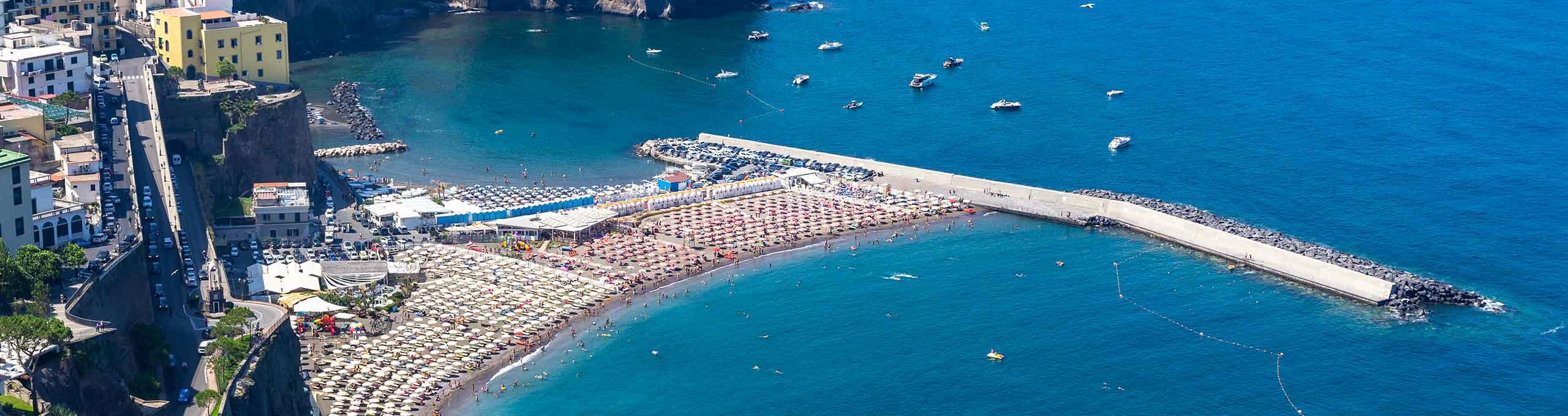 Meta, spiaggia, golfo di Sorrento