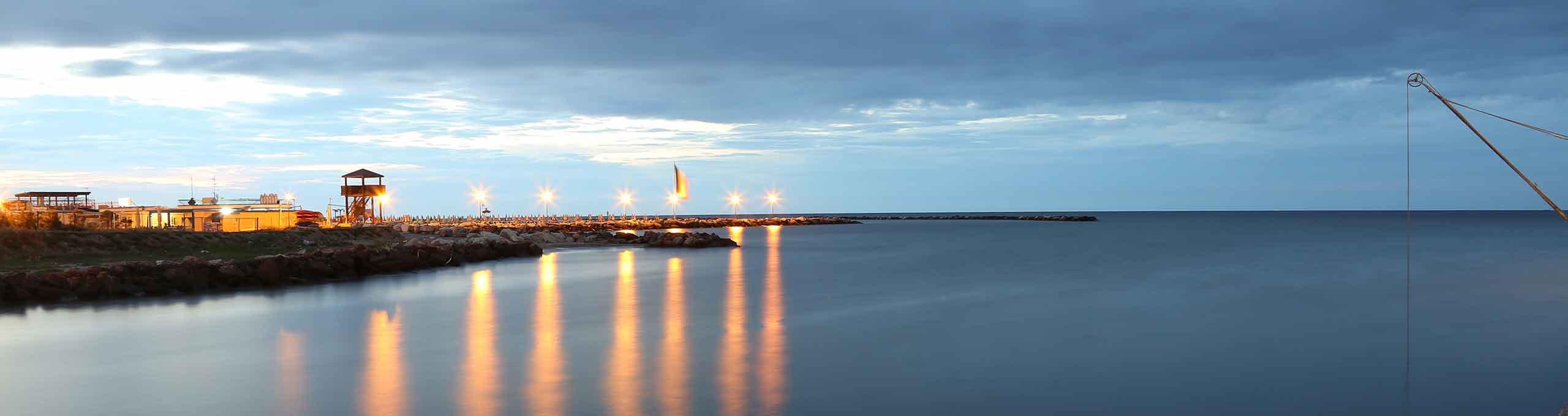 Marina di Ravenna, Riviera Romagnola, foce del Rubicone