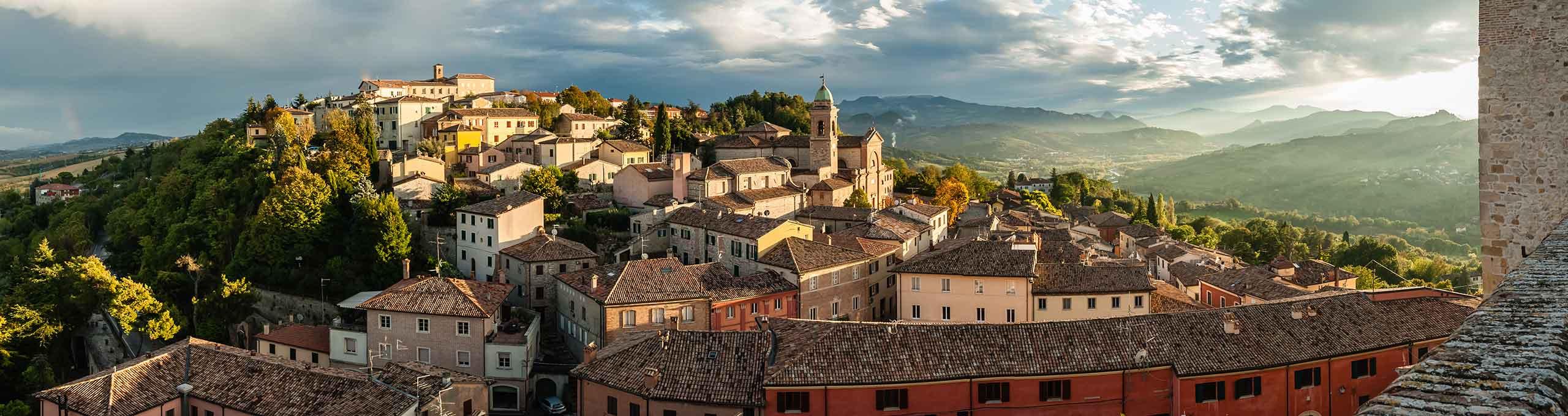 Verucchio, Riviera Romagnola, vista sulla Rocca Malatestiana