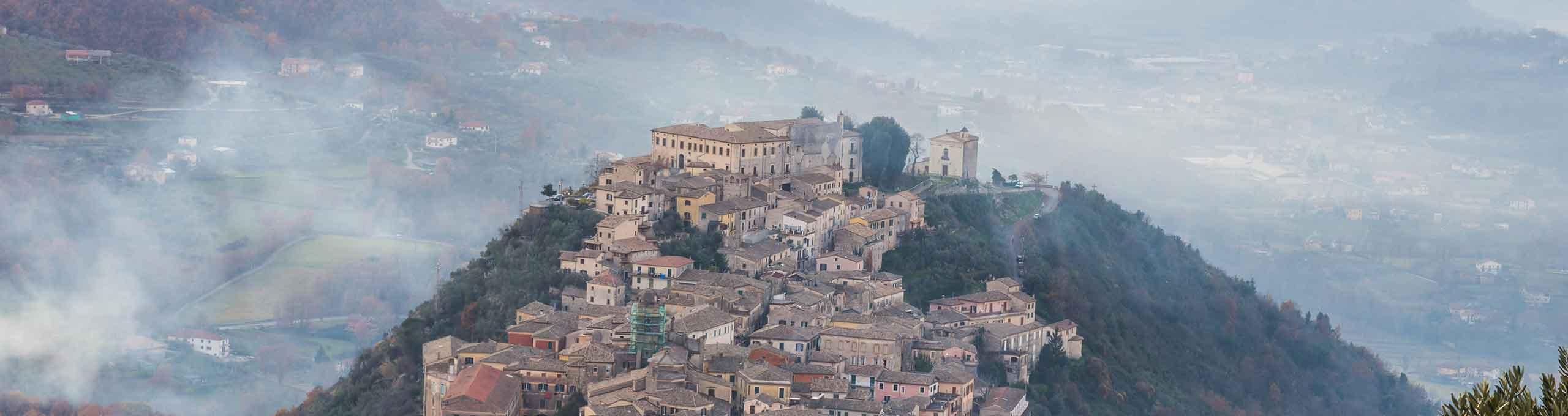 Arpino, vista dall'acropoli di Civitavecchia Arpino