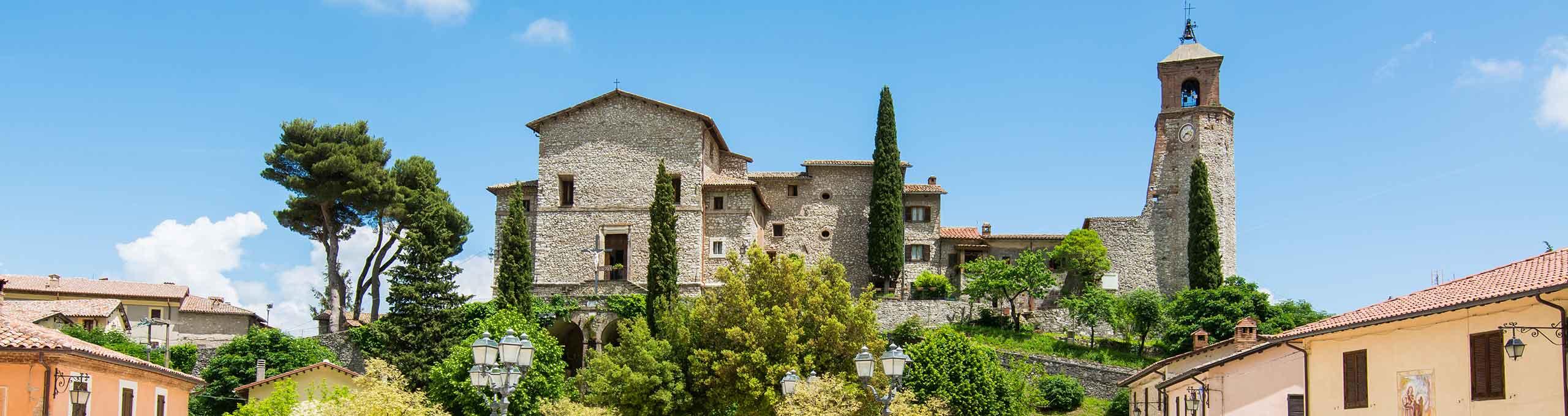 Greccio, Lazio, borgo medievale