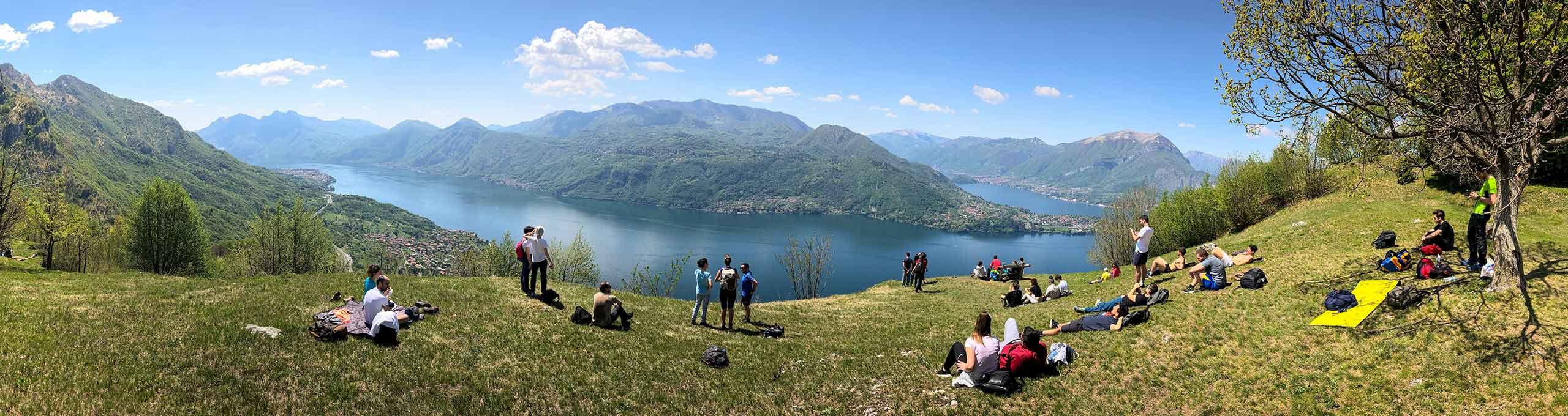 Alpe Mezzedo, Lago di Como, sentiero tra Lierna e Varenna