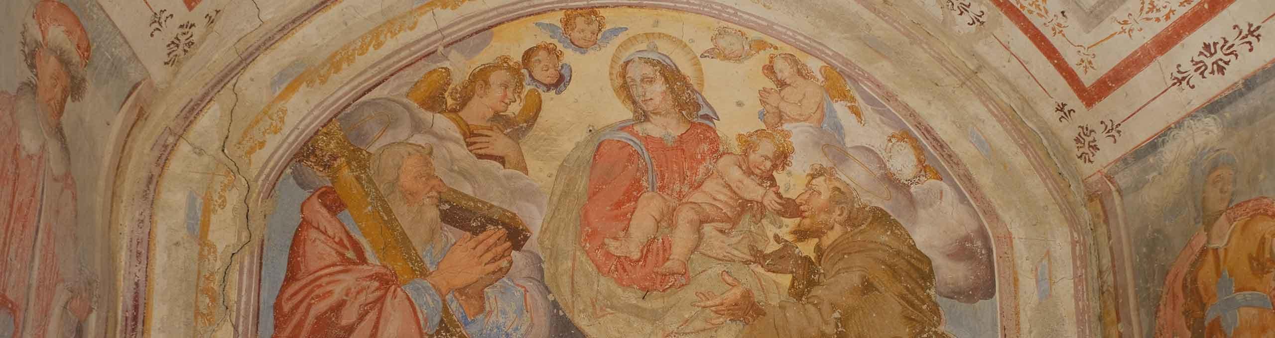 Rezzago, Lago di Como, Chiesa dei SS. Cosma e Damiano, affresco
