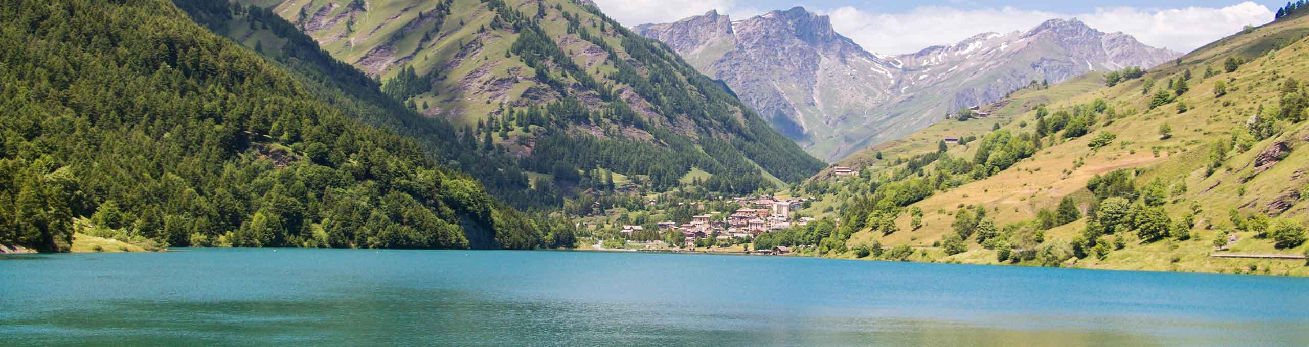 Lago di Pontechianale, valli del Monviso