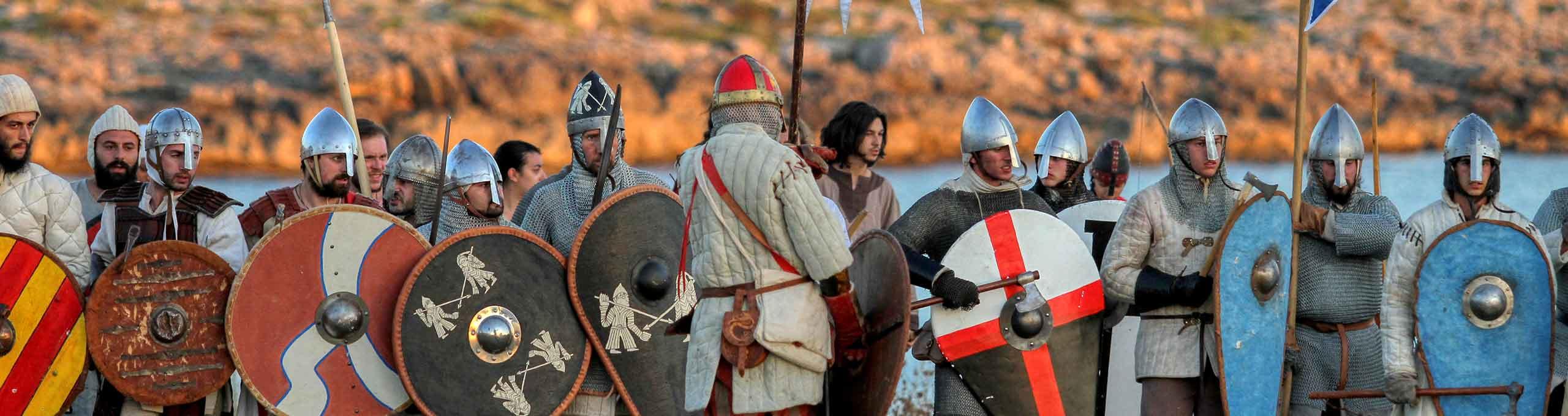 Leporano, Puglia, rappresentazione storica della battaglia di Taranto tra bizantini e normanni