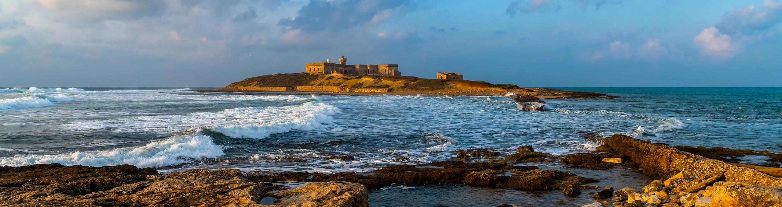 Isola di Capo Passero, punta piu' a sud della Sicilia