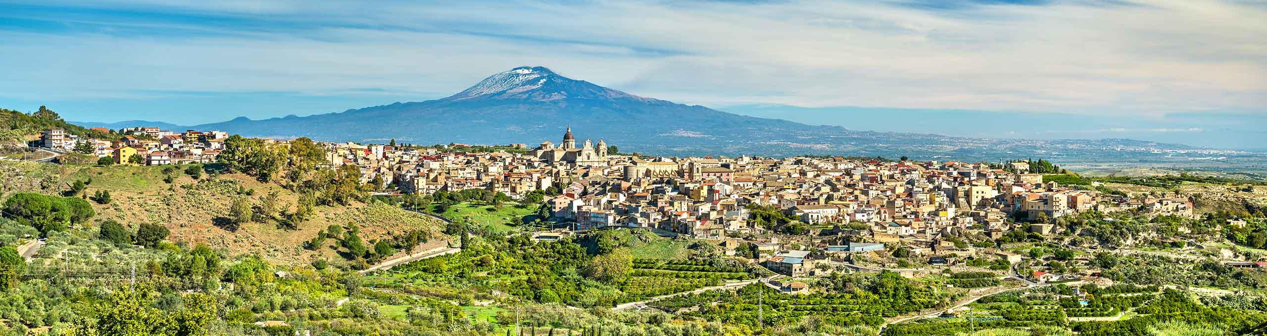 Militello, Val di Noto, Etna sulla sfondo