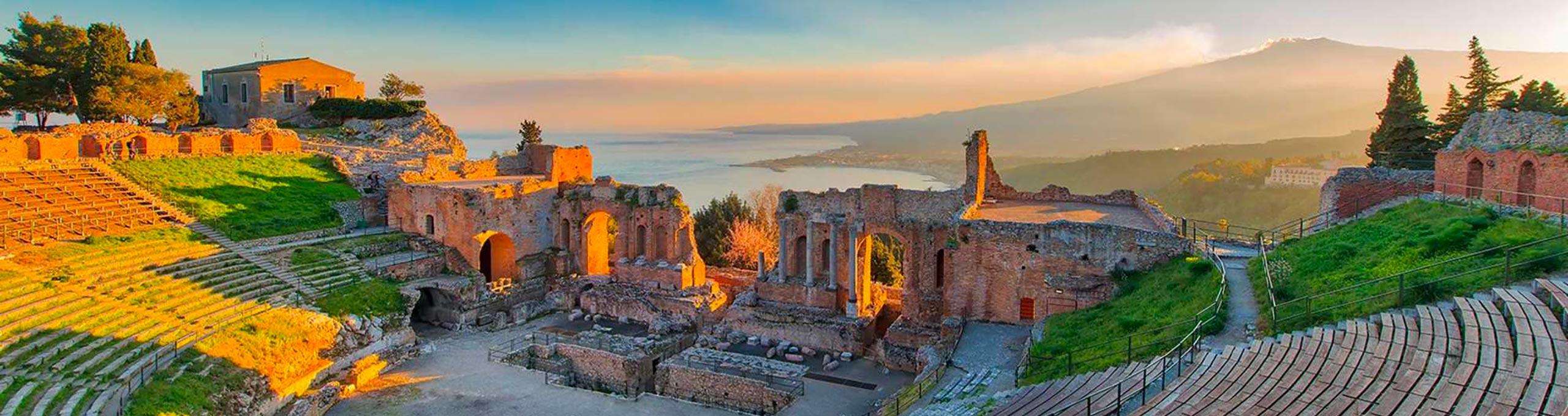 Vista dell'antico teatro romano