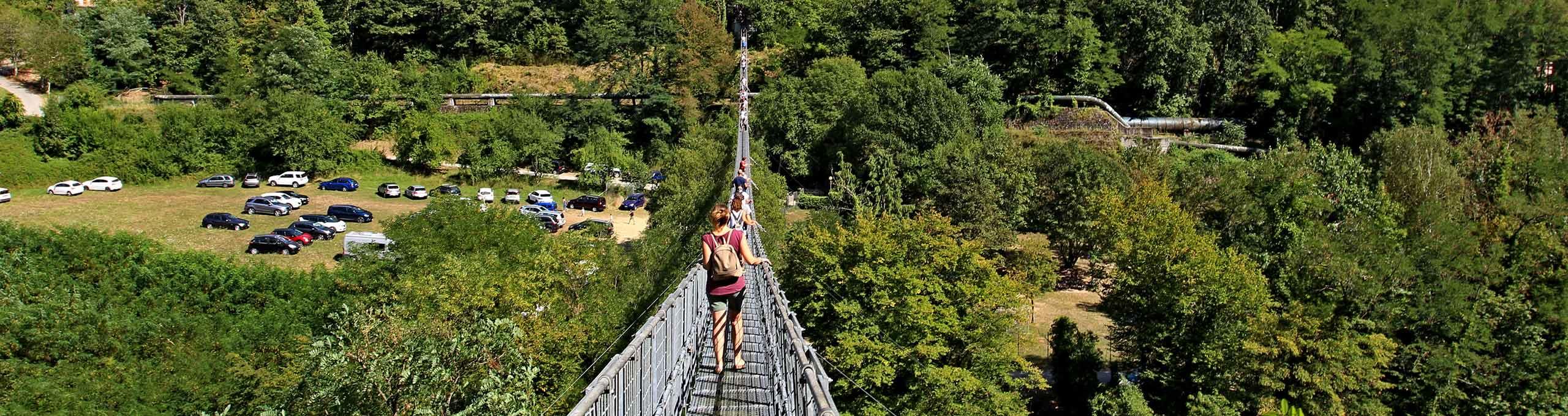 Ponte ferrato lungo 227 mt