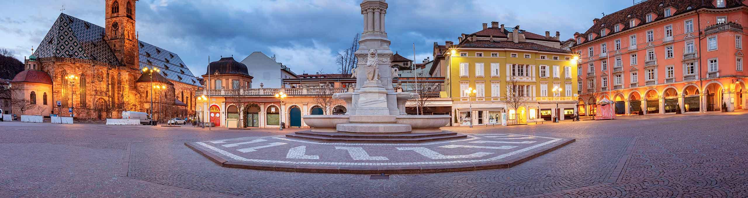 Piazza Walther centro di Bolzano