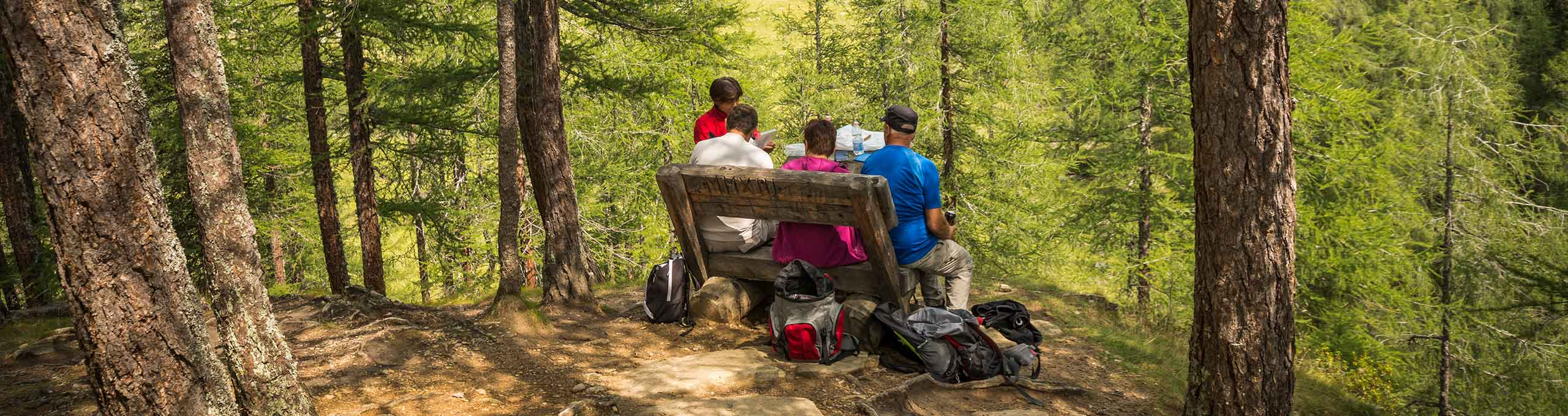 Escursionisti in Val di Rabbi