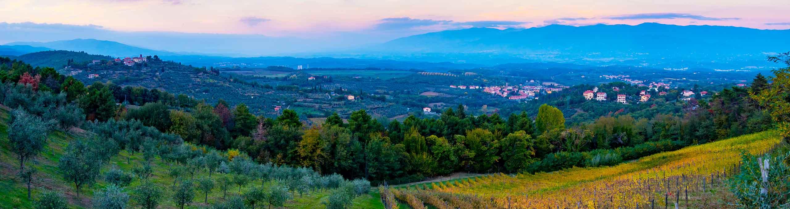 Vista su Cavriglia, Valdarno