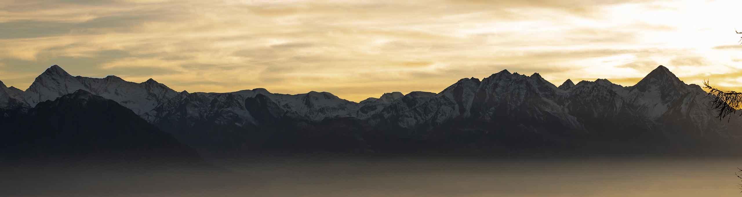 La Magdeleine, vista dal Col Pilaz sulla catena del Gran Paradiso