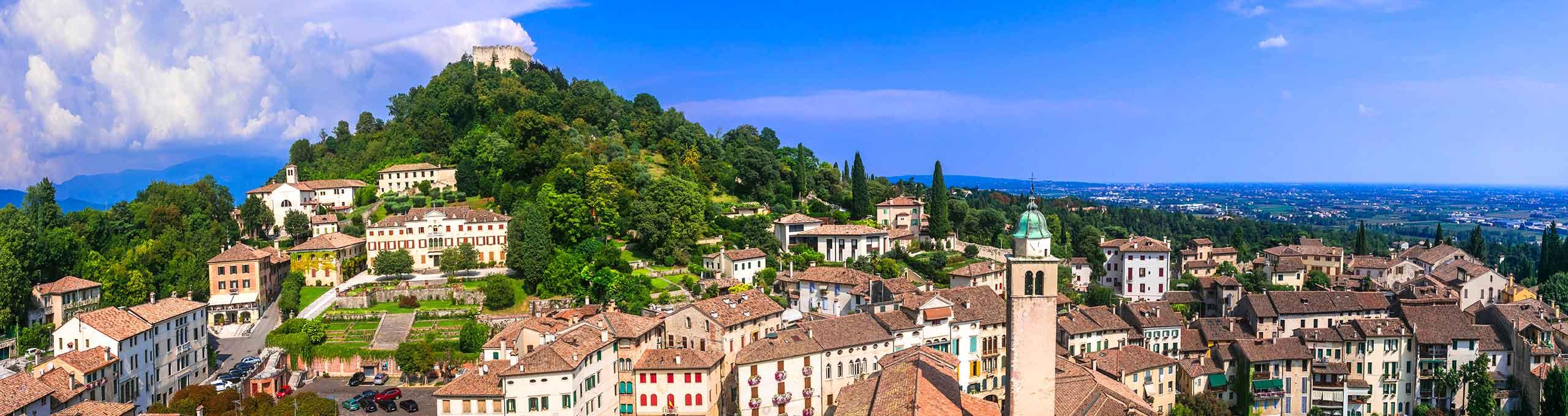 Vista panoramica di Asolo, Treviso